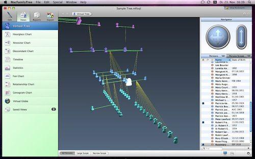 recensione MacFamilyTree, l'app per creare il vostro Albero Genealogico direttamente su Mac