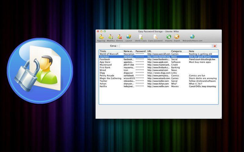 Password di Archiviazione Facile per proteggere le voste password