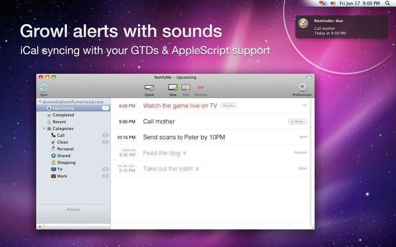 NotifyMe Desktop: un'app per la gestione dei promemoria su iCloud
