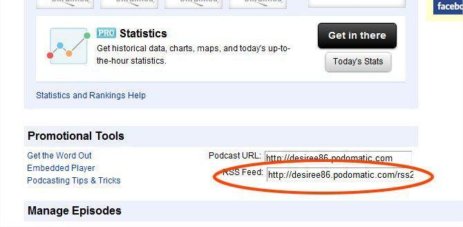 podcast su iTunes - come usare podomatic - ottenere il link