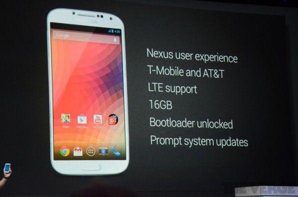 "Samsung Galaxy S4 con ""Google Experience"""