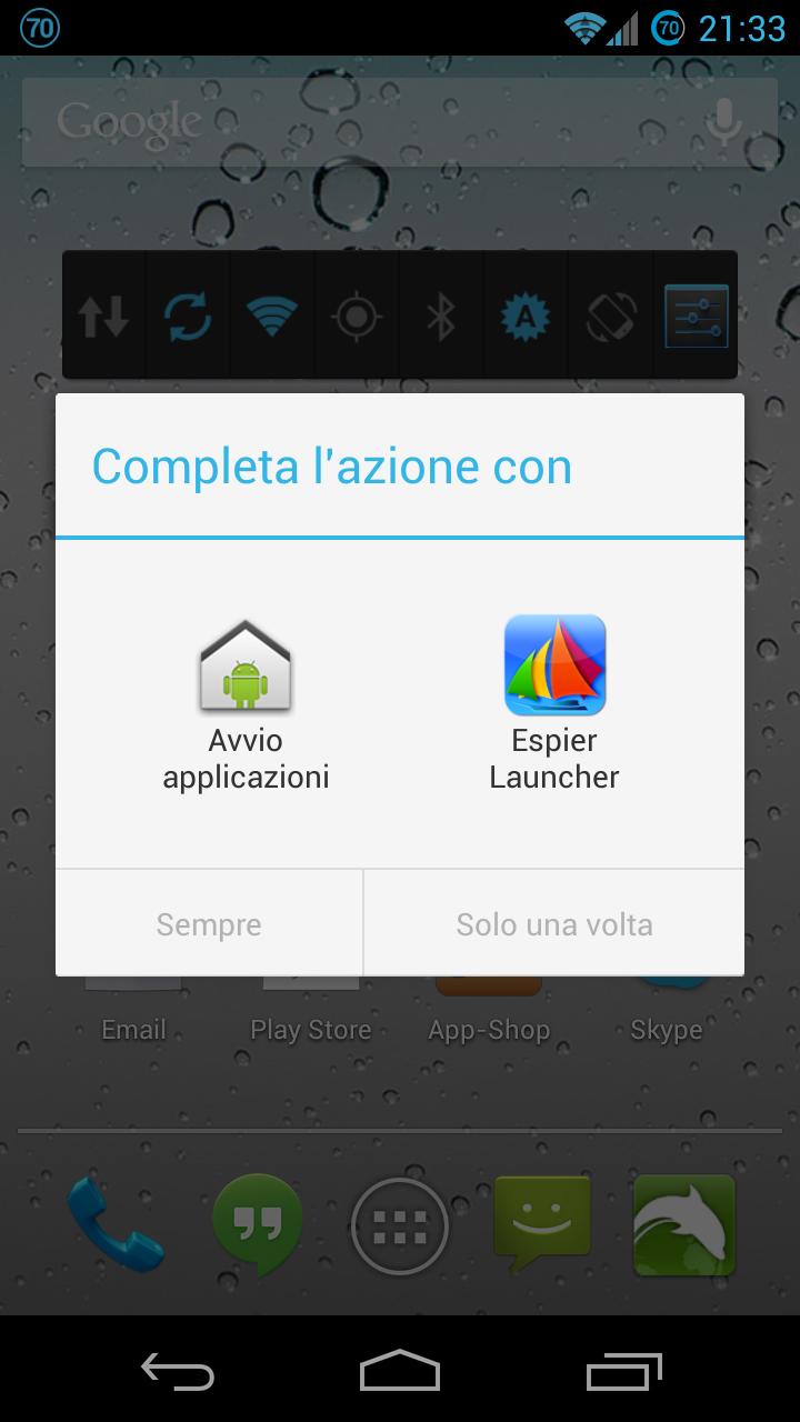 Selezione Launcher