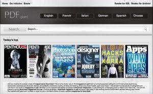 pdf giant è il sito principale per scaricare quotidiani italiani gratis e riviste nelle principali lingue