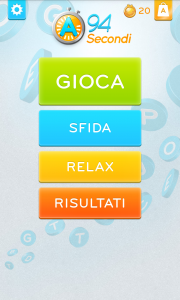 94 secondi menu