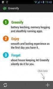 greenify set up