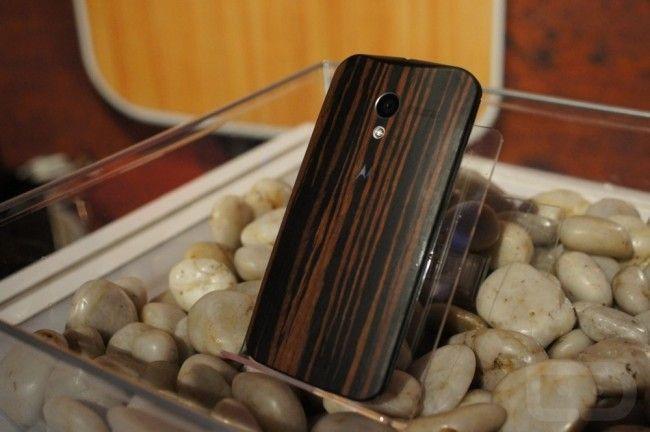 back cover in legno moto x