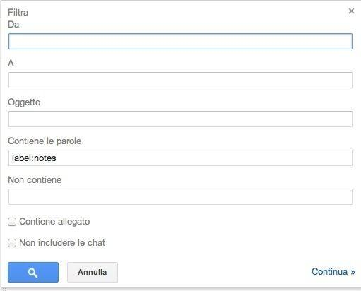 Filtro Gmail Evernote