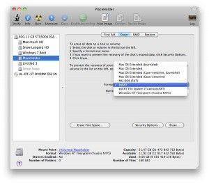 come formattare in exFAT su Mac OS X