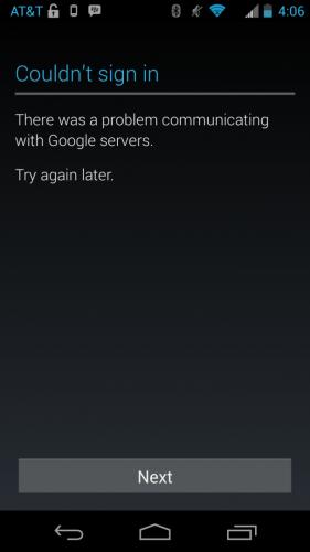 errore sincronizzazione google