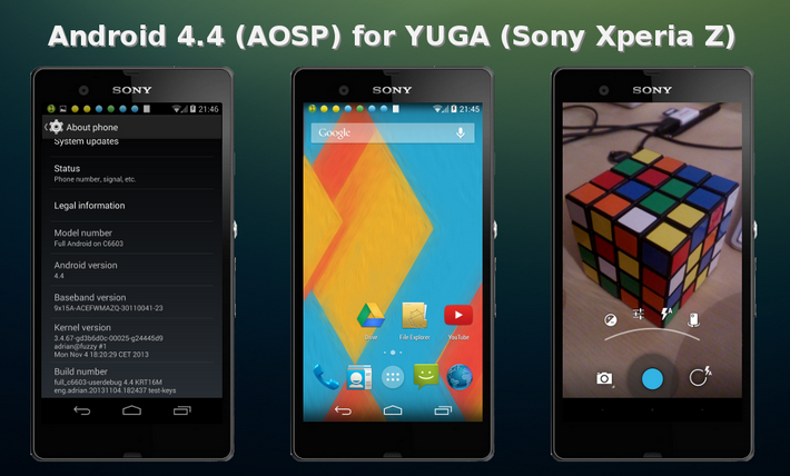 Android 4.4 per Xperia Z