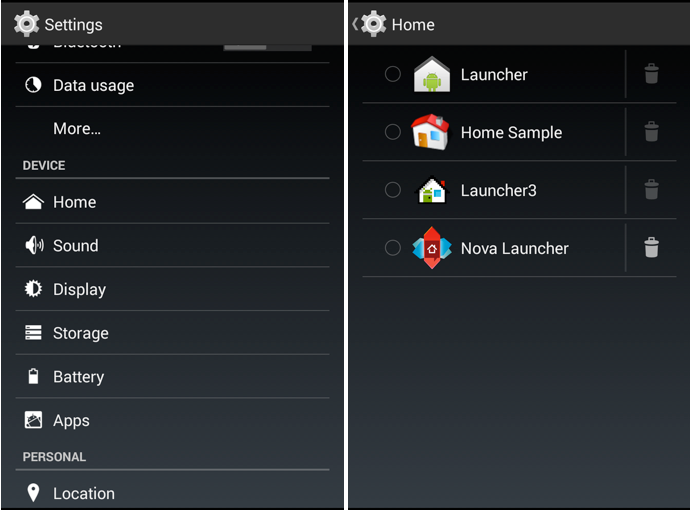 launcher di default android 4.4 kitkat
