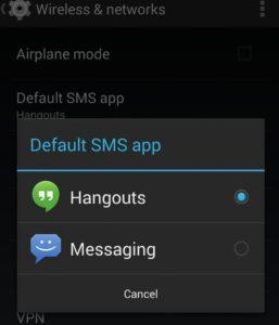 sostituire hangouts