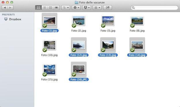 selezione multipla mac