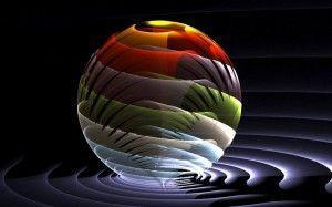 wallpaper sfera luce
