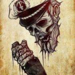 Wallpaper capitano zombie