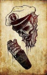 Wallpaper capitano zombie