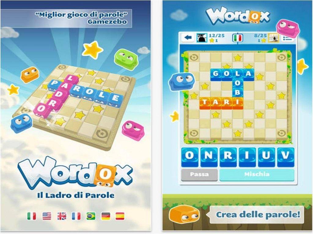 Giochi di parole su iPhone Wordox, il ladro di parole