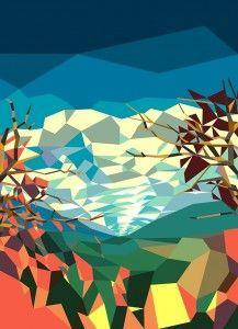 Wallpaper Landshape astratto