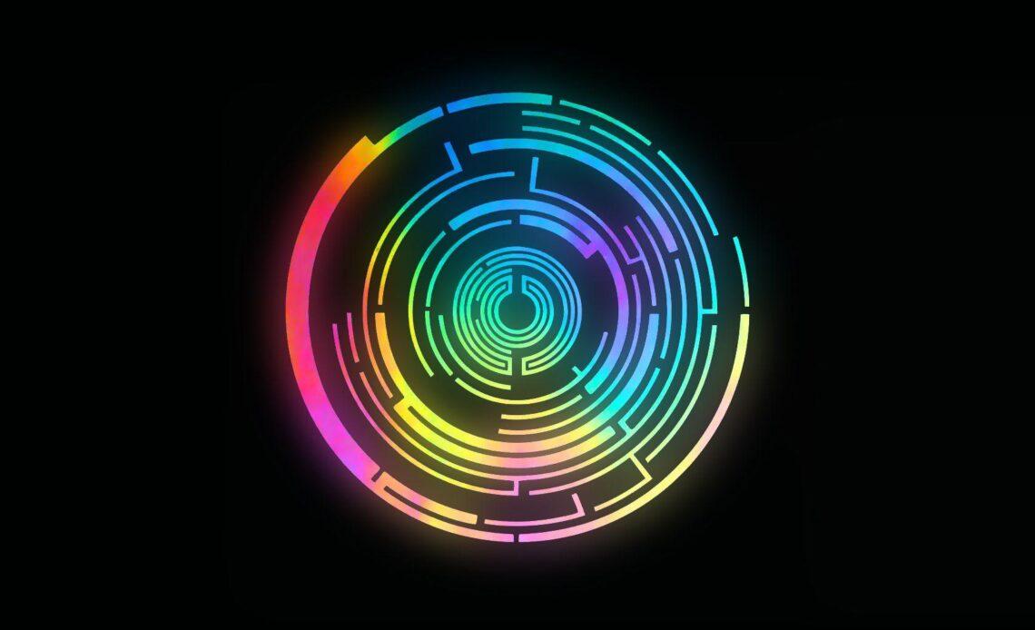 wallpaper cerchi colorati astratti