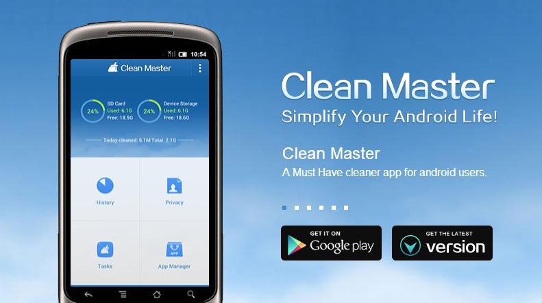 Liberare memoria su Android con CleanMaster