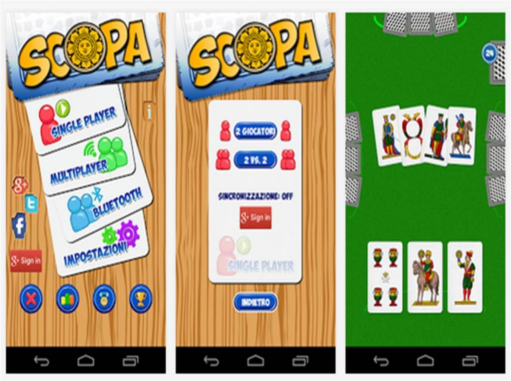 Giochi di carte per Android Scopa