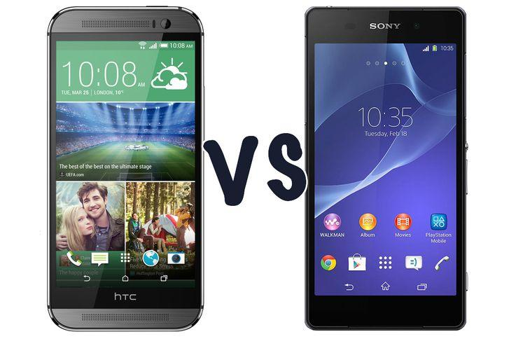 HTC One (M8) vs Sony Xperia Z2