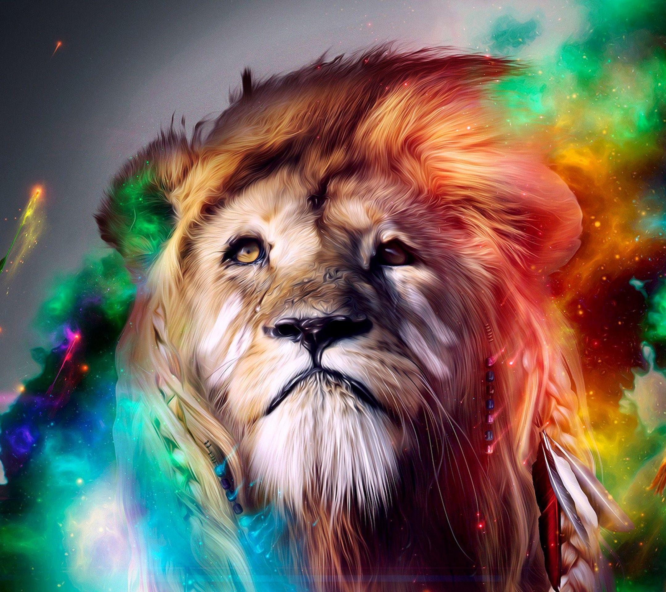 wallpaper lion art