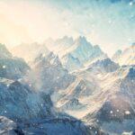 Wallpaper mountain art