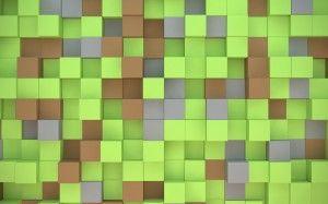 wallpaper cubetti verdi