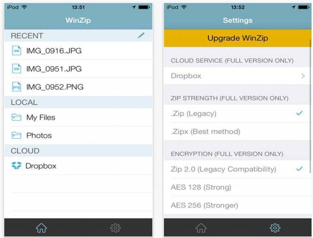 utility iPhone iPad WinZip