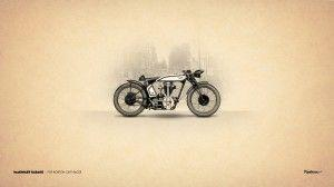 Wallpaper vintage retro motorbike