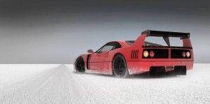 wallpaper ferrari polvere