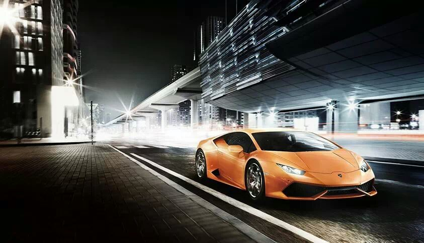Wallpaper lamborghini city