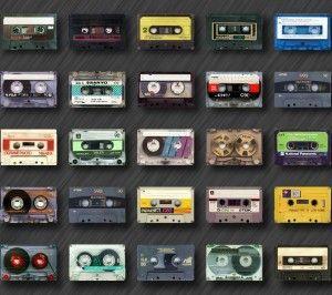 Wallpaper cassette retro