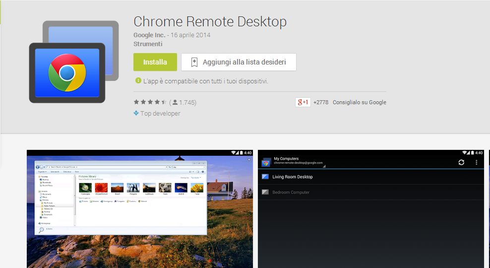 chrome remote desktop 1 Controlla il tuo PC da Android con Chrome Remote Desktop