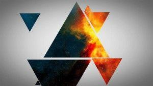 Wallpaper colorful triangles