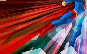 Wallpaper superman poligon