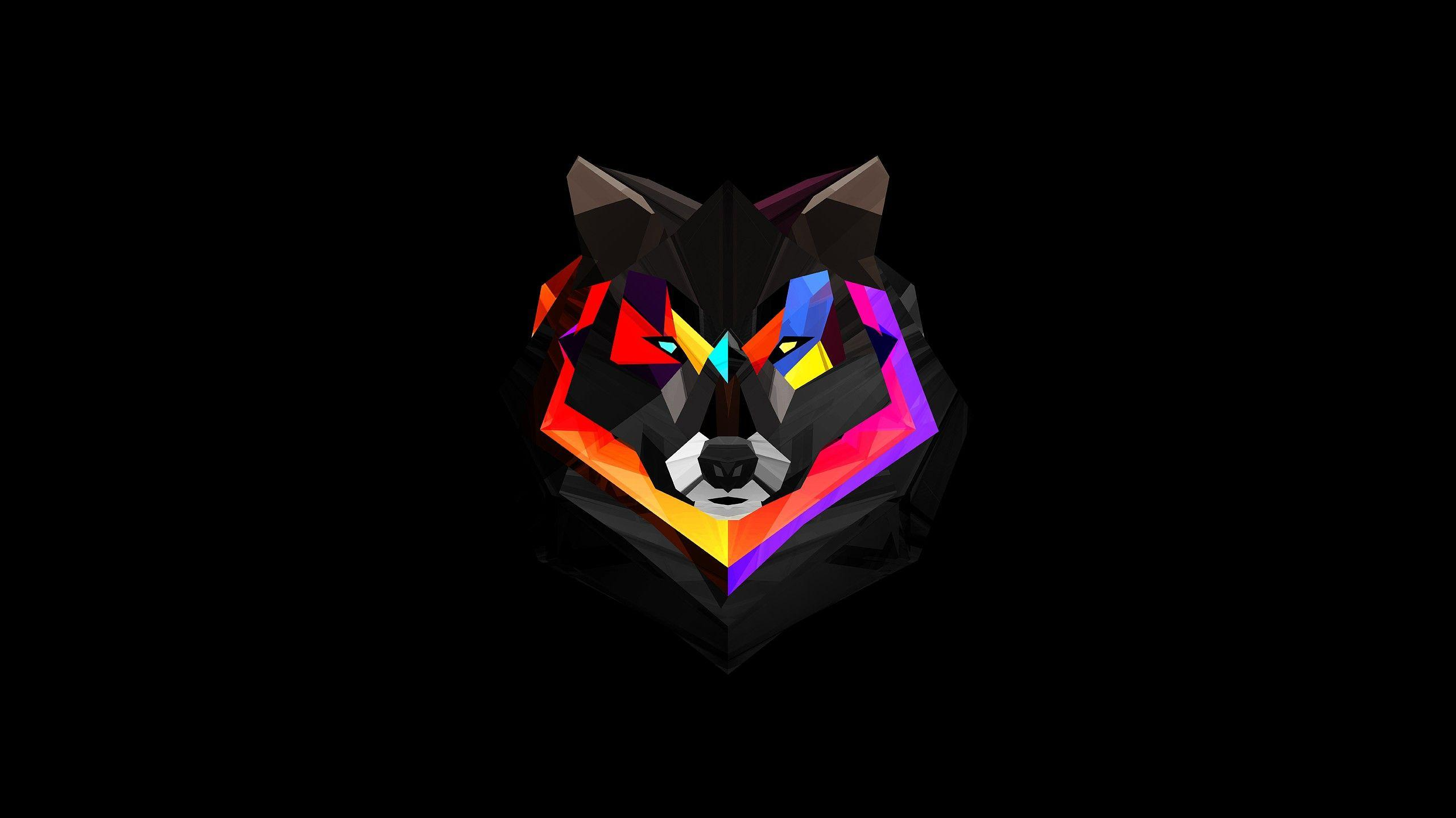 Wallpaper wolf poligon for Sfondi 4k per pc