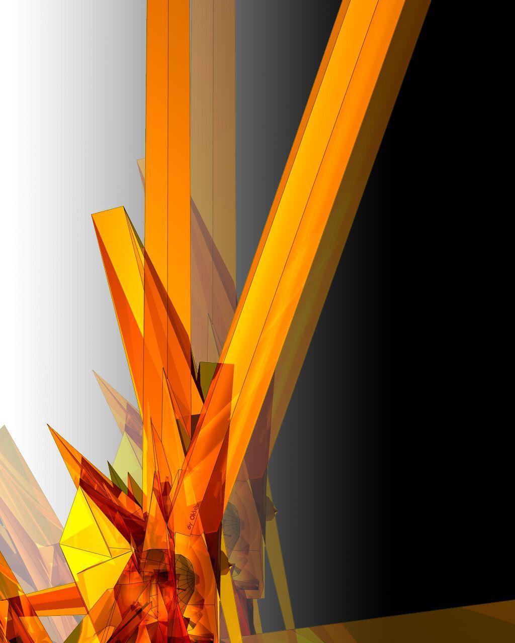 Wallpaper orange abstract