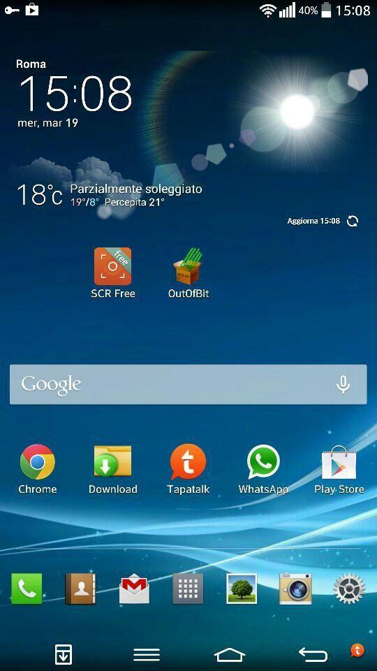 La schermata Home di uno smartphone