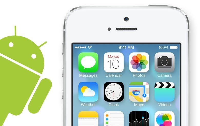 trasformare android in ios 7