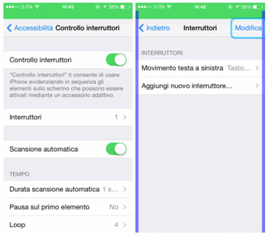 Controllare iPhone e iPad con i movimenti della testa
