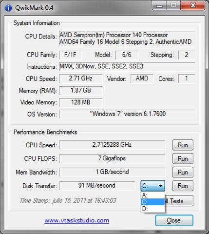 software individuare componenti hardware pc QwikMark 0.4