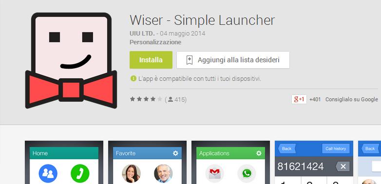 Rendi Android adatto anche ai tuoi nonni con Wiser