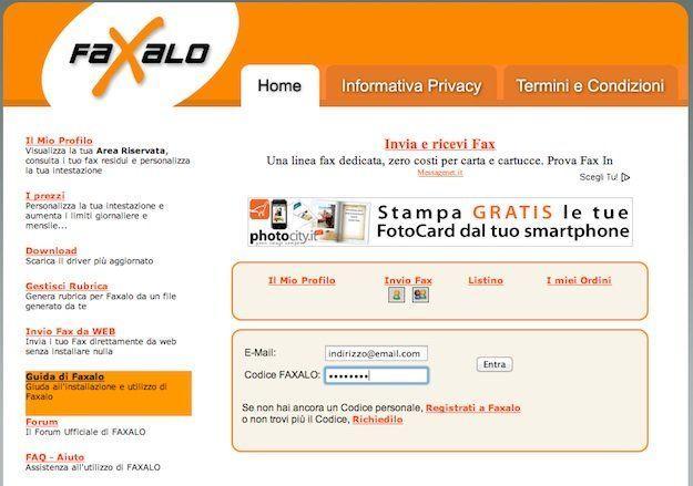 Come inviare fax online con Faxalo
