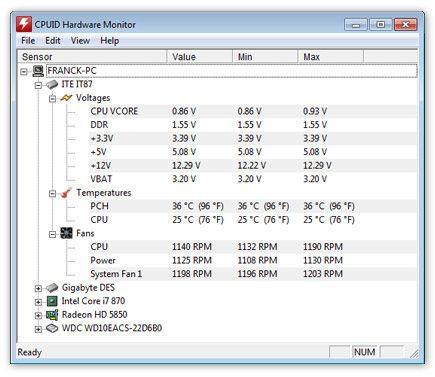 HW Monitor programmi controllare la temperatura del pc