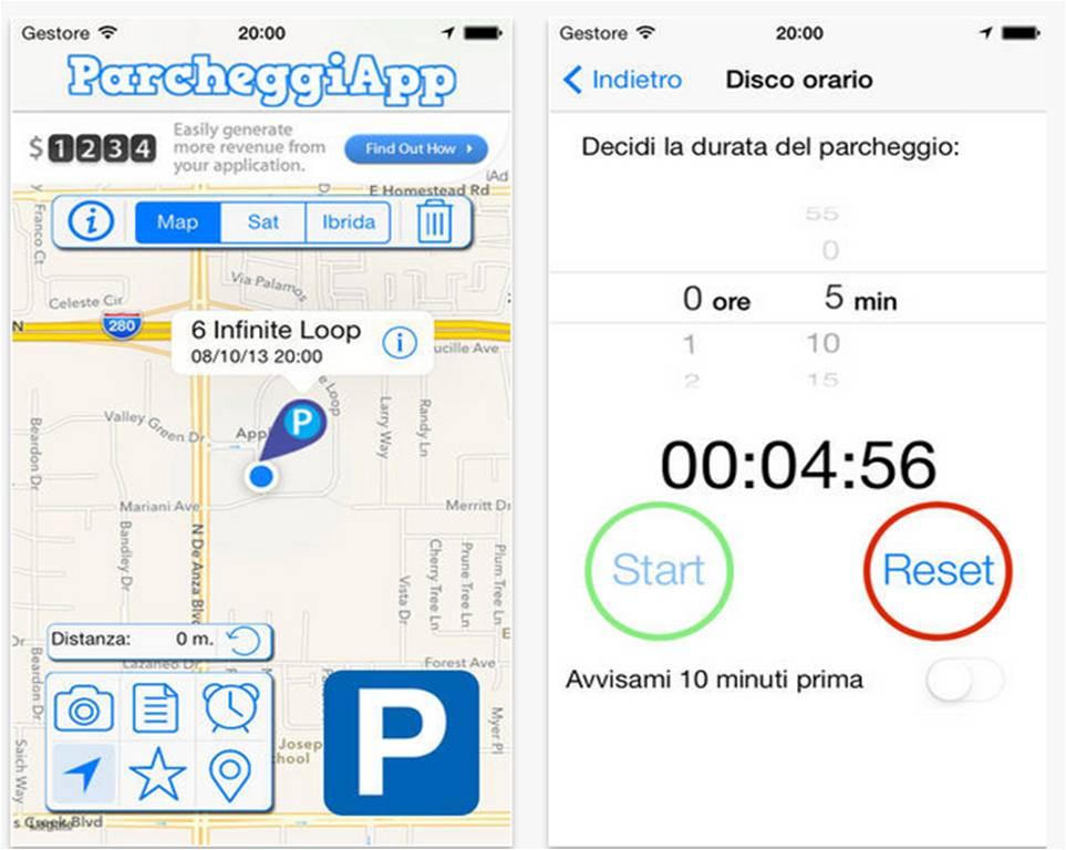 ParcheggiApp App parcheggio iPhone