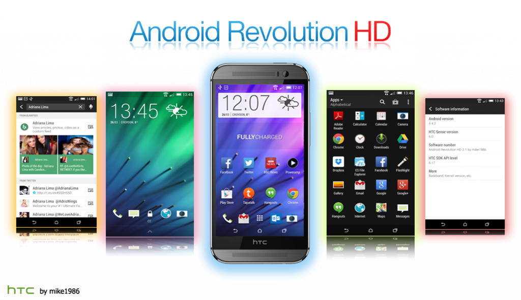 android revolution hd htc one m8