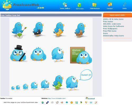freeiconsweb set di icone