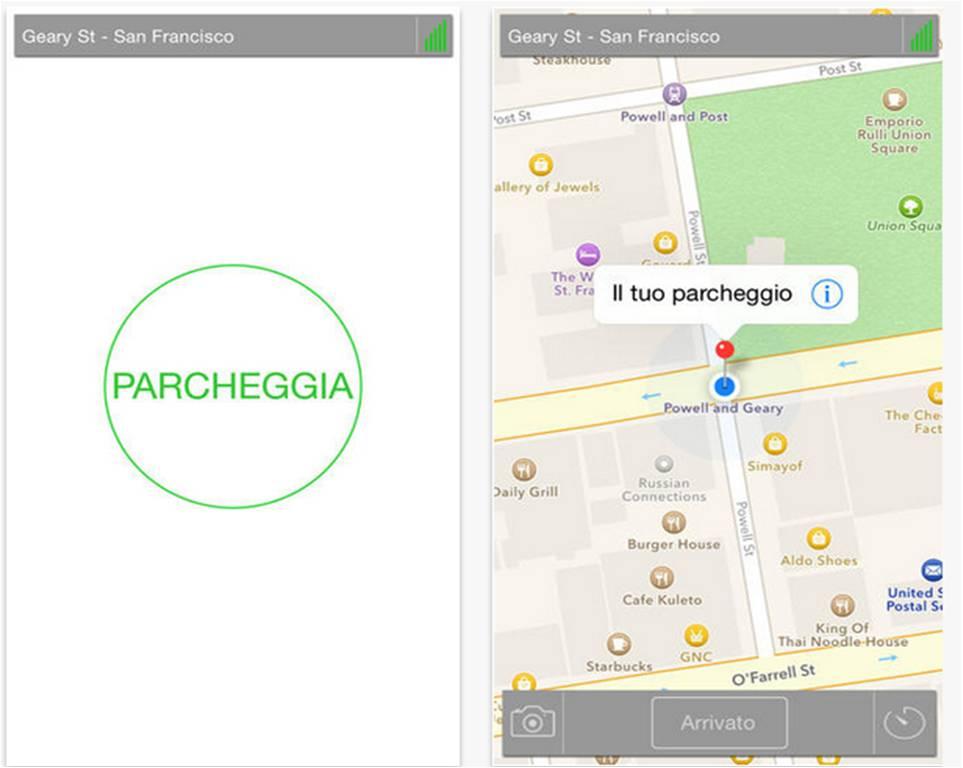 iEasyPark App parcheggio iPhone